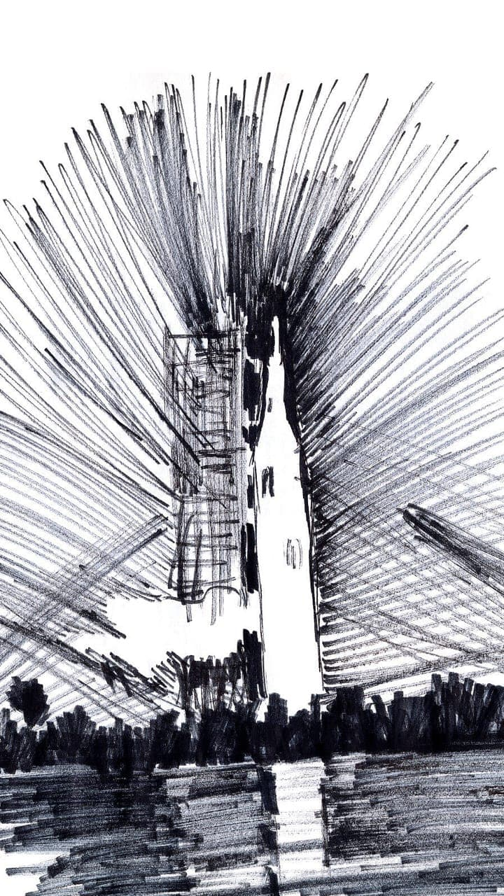 An illustration depicting a launch