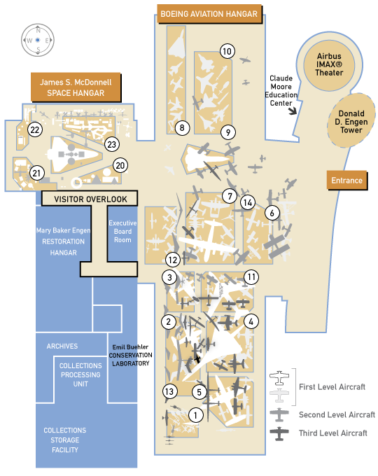 Floor Plans And Guides For The Udvar Hazy Center In
