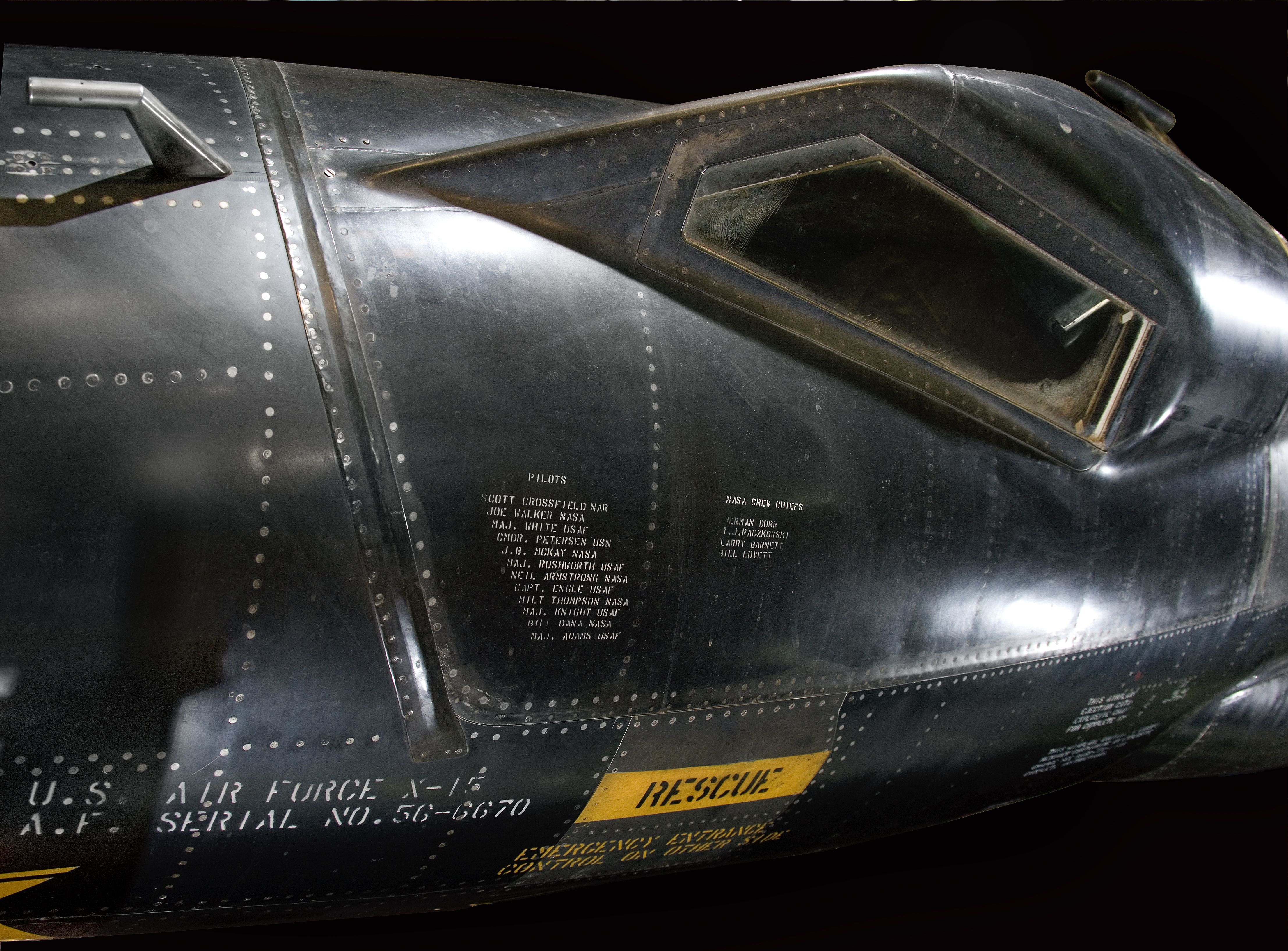 The X-15's distinctive, heat-resistant exterior