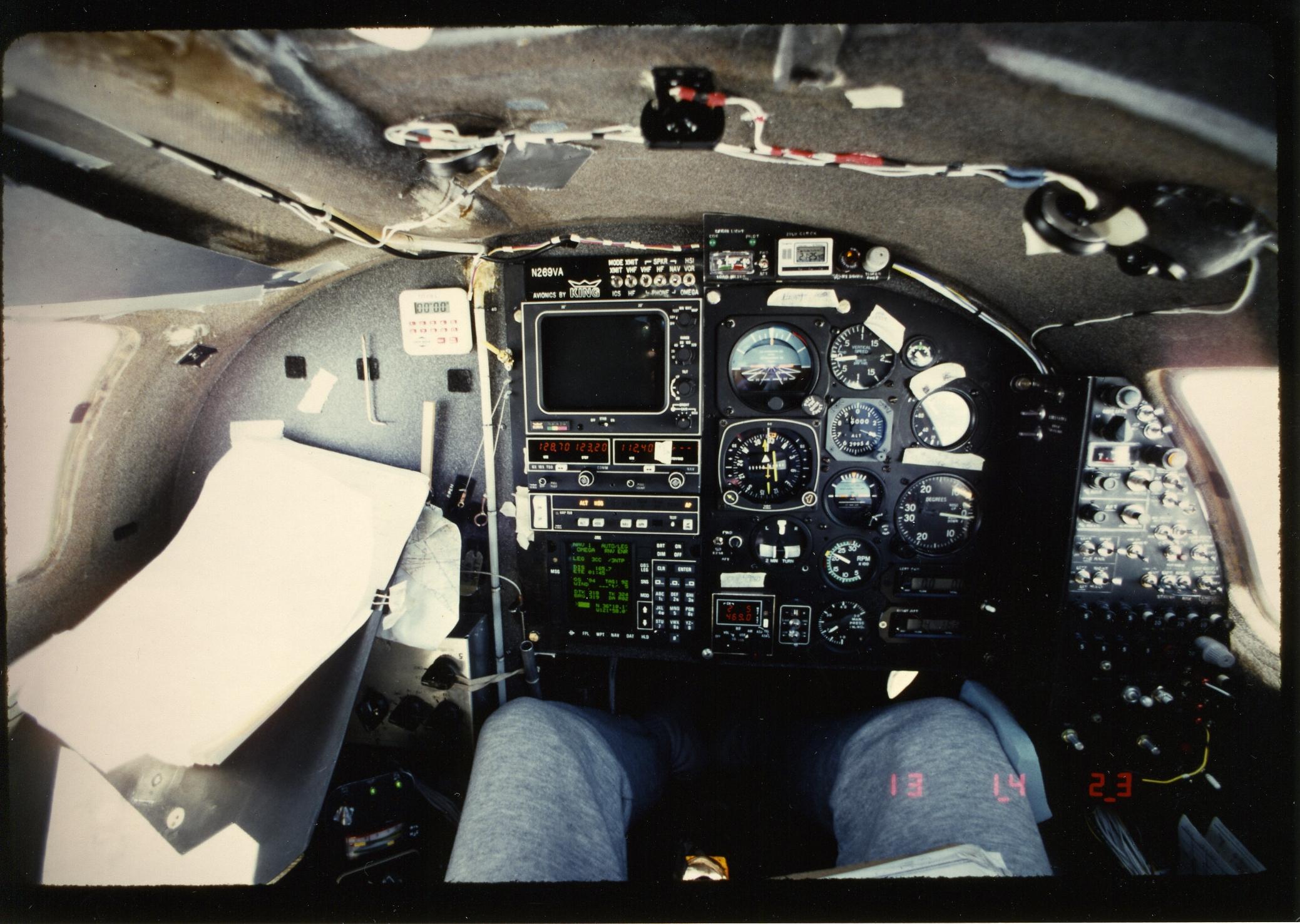 Rutan Voyager Cockpit
