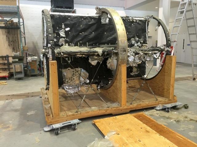 Apollo Telescope Mount Spar Before Restoration