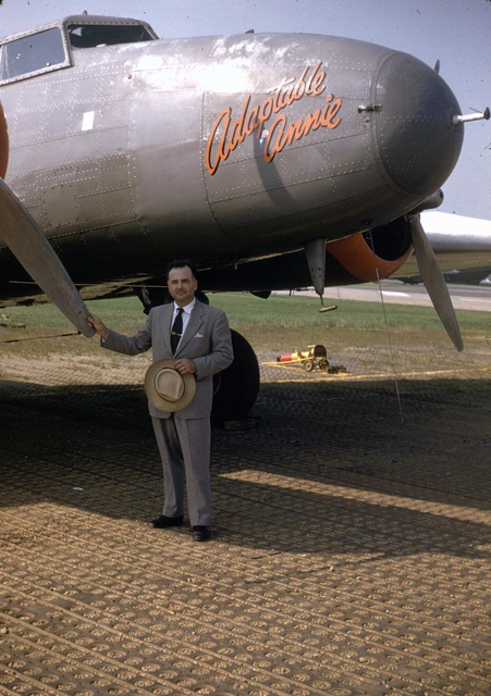 Paul Garber with Boeing 247-D