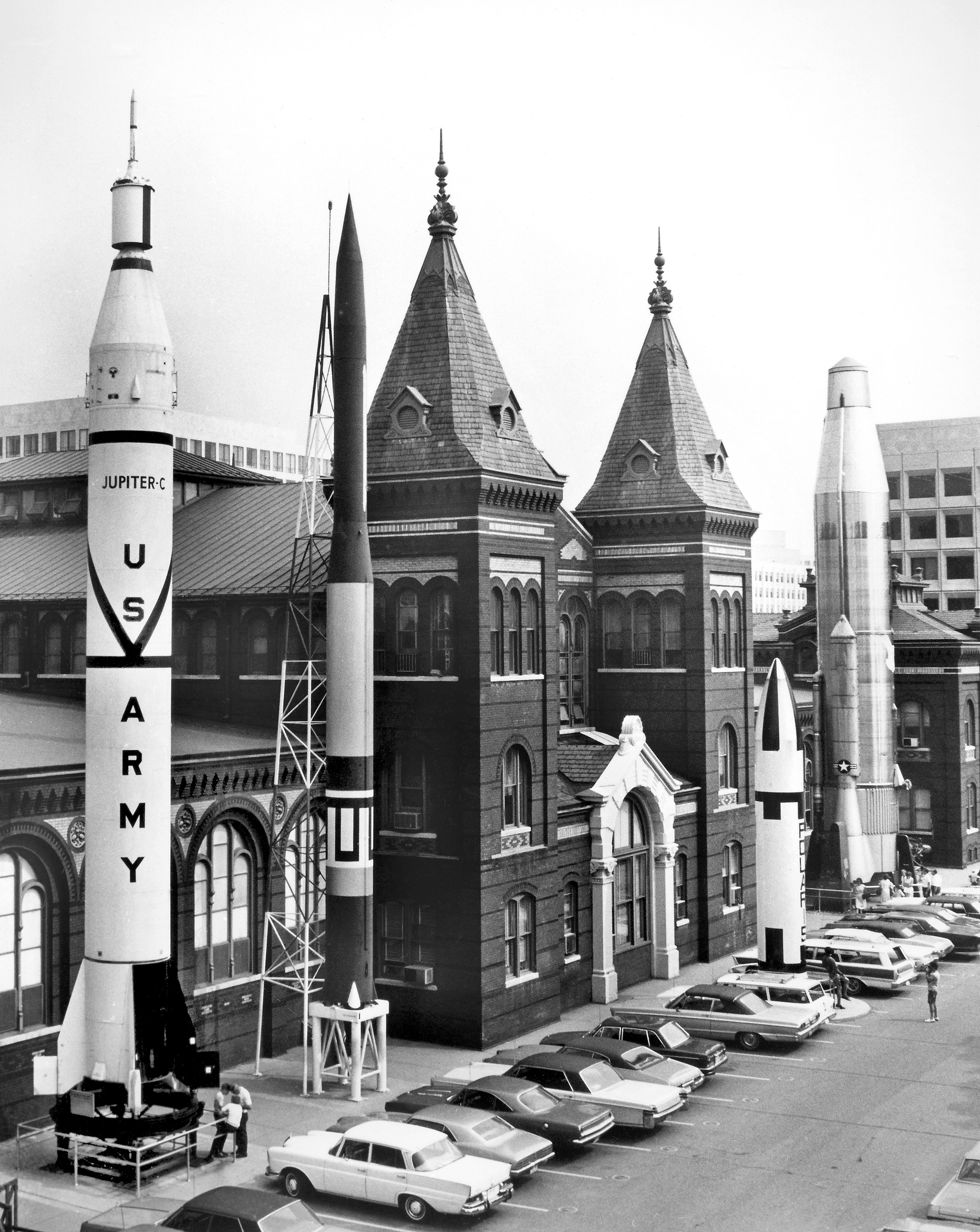 Rocket Row on West Side of A&I Building; 1960s