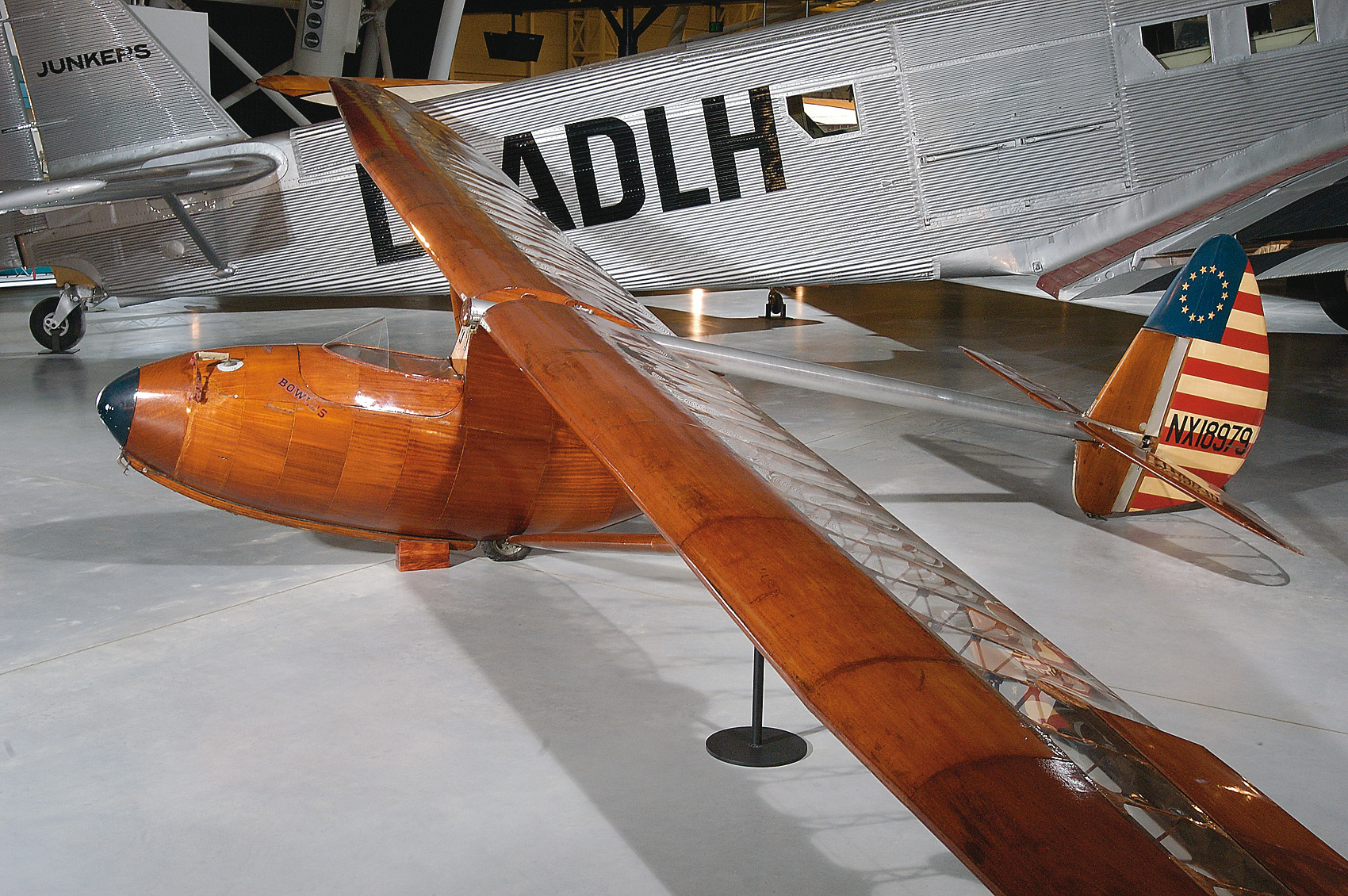 Bowlus BA-100 Baby Albatross at the Udvar-Hazy Center