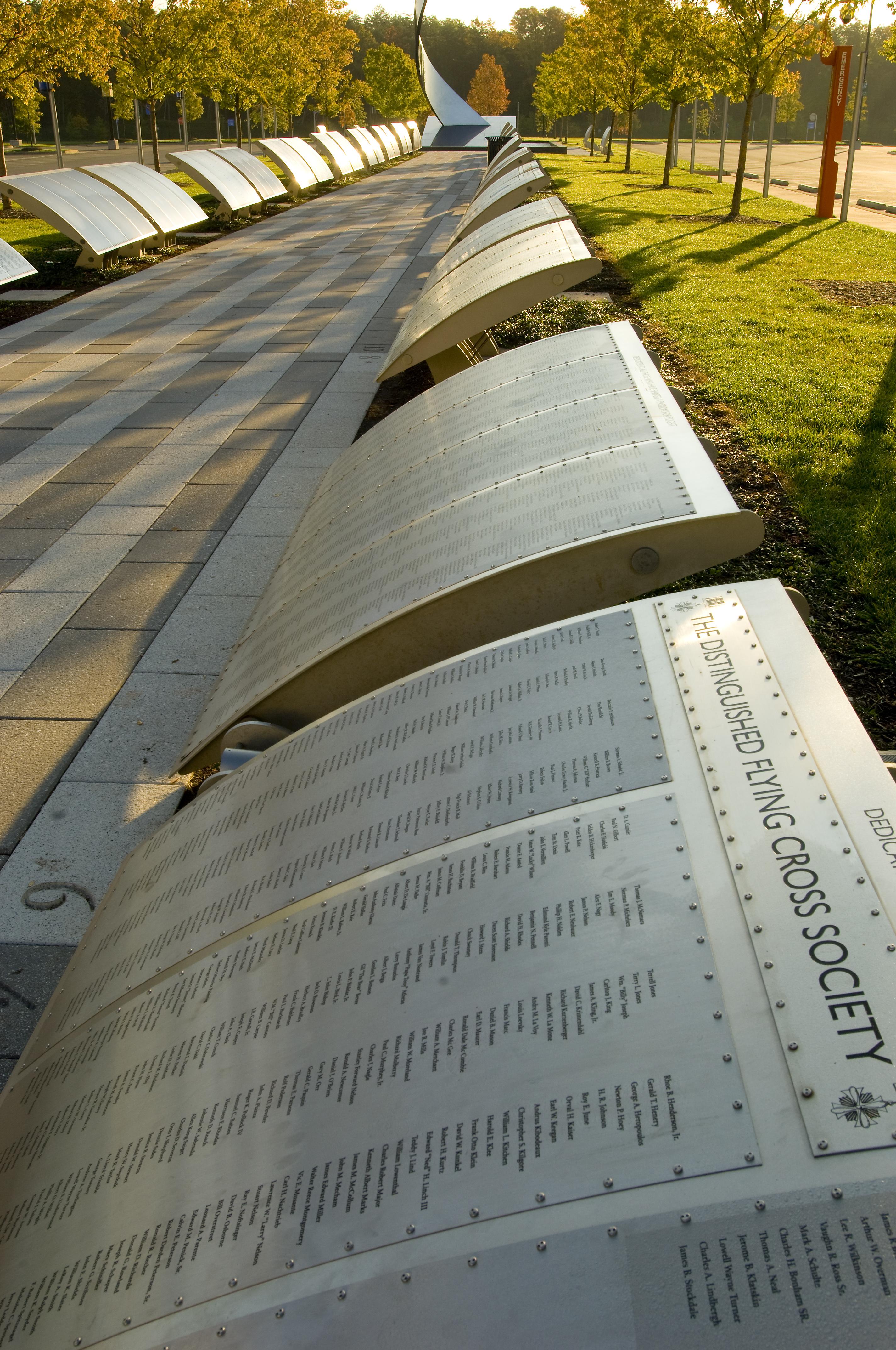 Wall of Honor at the Udvar-Hazy Center