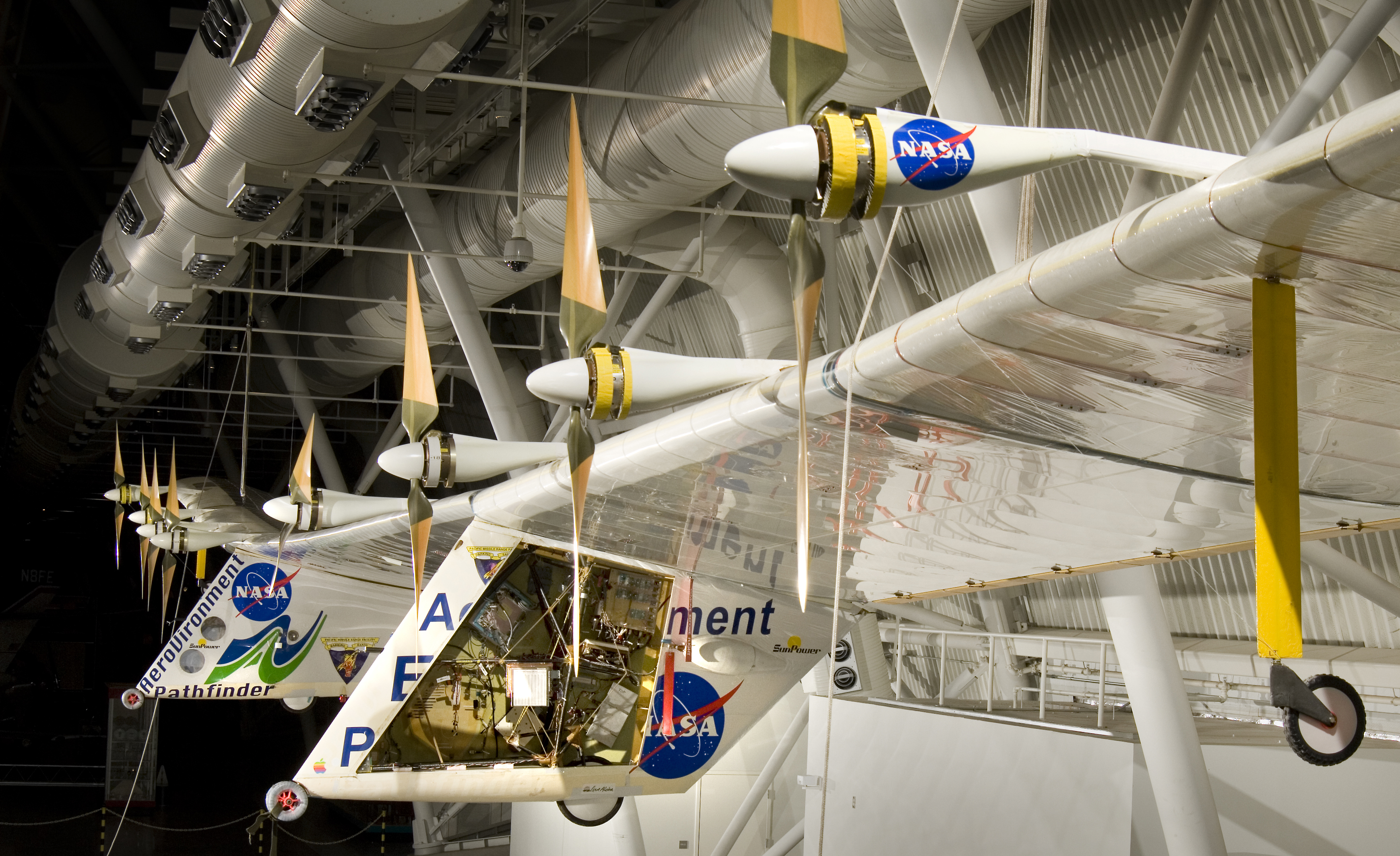 Pathfinder Plus hanging in the Udvar-Hazy Center