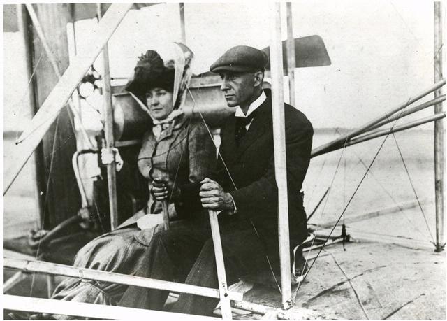 Wilbur Wright and Mrs. Edith Berg
