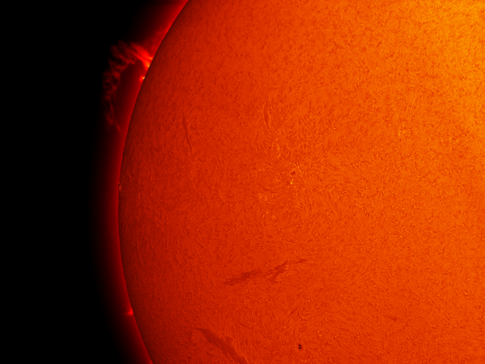 Prominence on the Sun - July 26, 2012