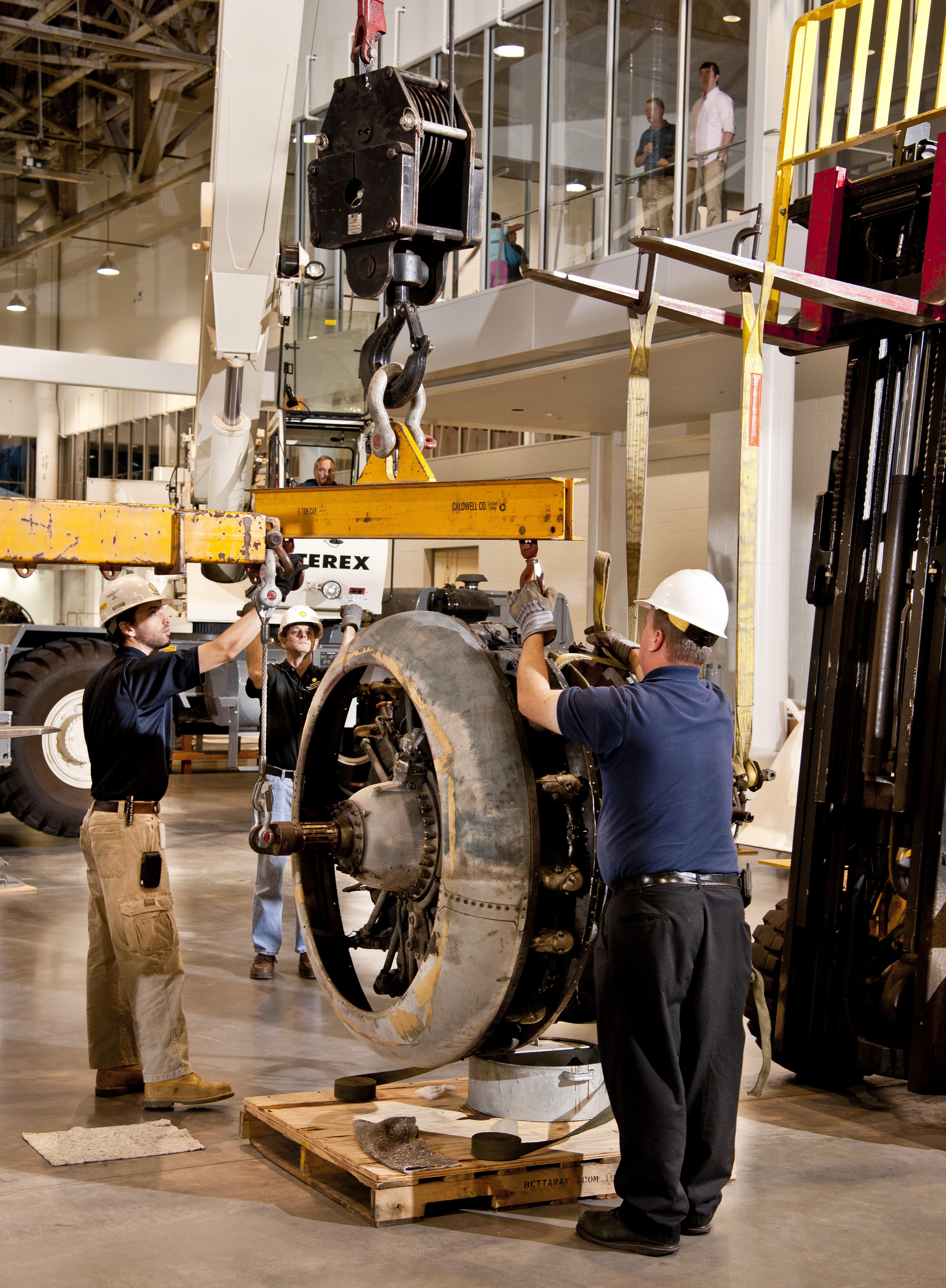 Sikorsky JRS-1 Assembly in Restoration Hangar