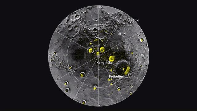 Radar Bright Deposits in Mercury's Polar Craters