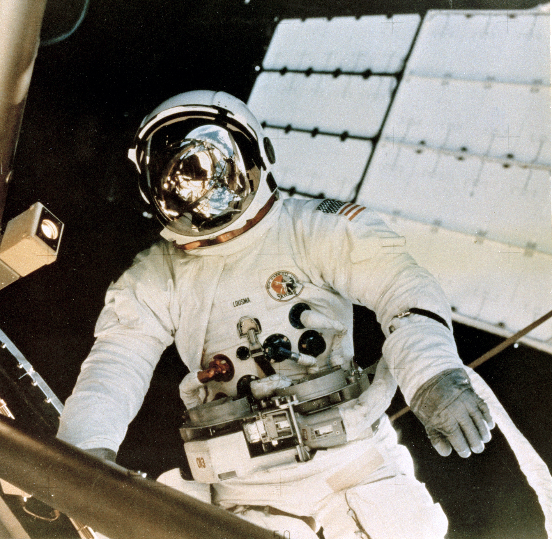 Astronaut Jack Lousma on Skylab 3 Spacewalk
