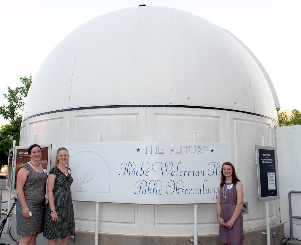 Astronomy educators outside the Phoebe Waterman Haas Public Observatory