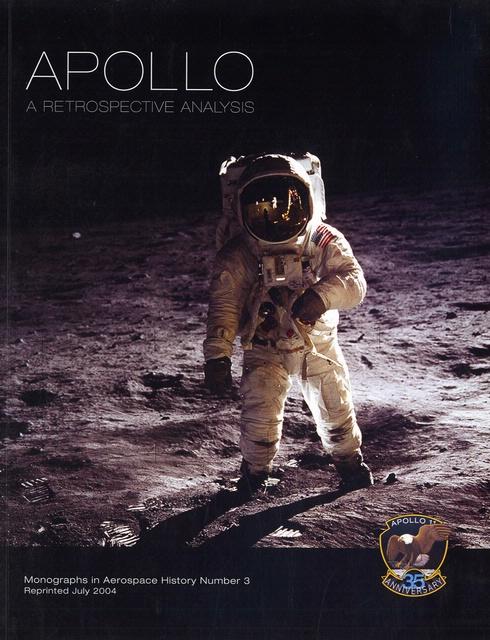 Book cover: Apollo, A Retrospective Analysis