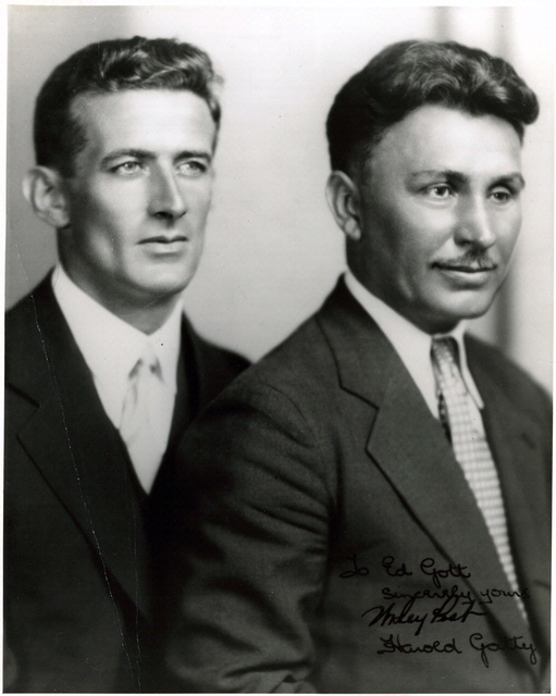 Portrait of Harold Gatty and Wiley Post