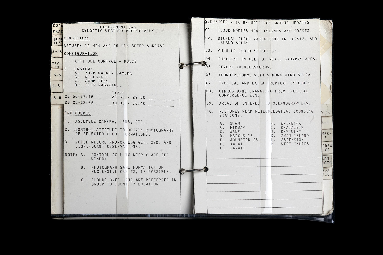 Gemini 10 Experiment Log Book
