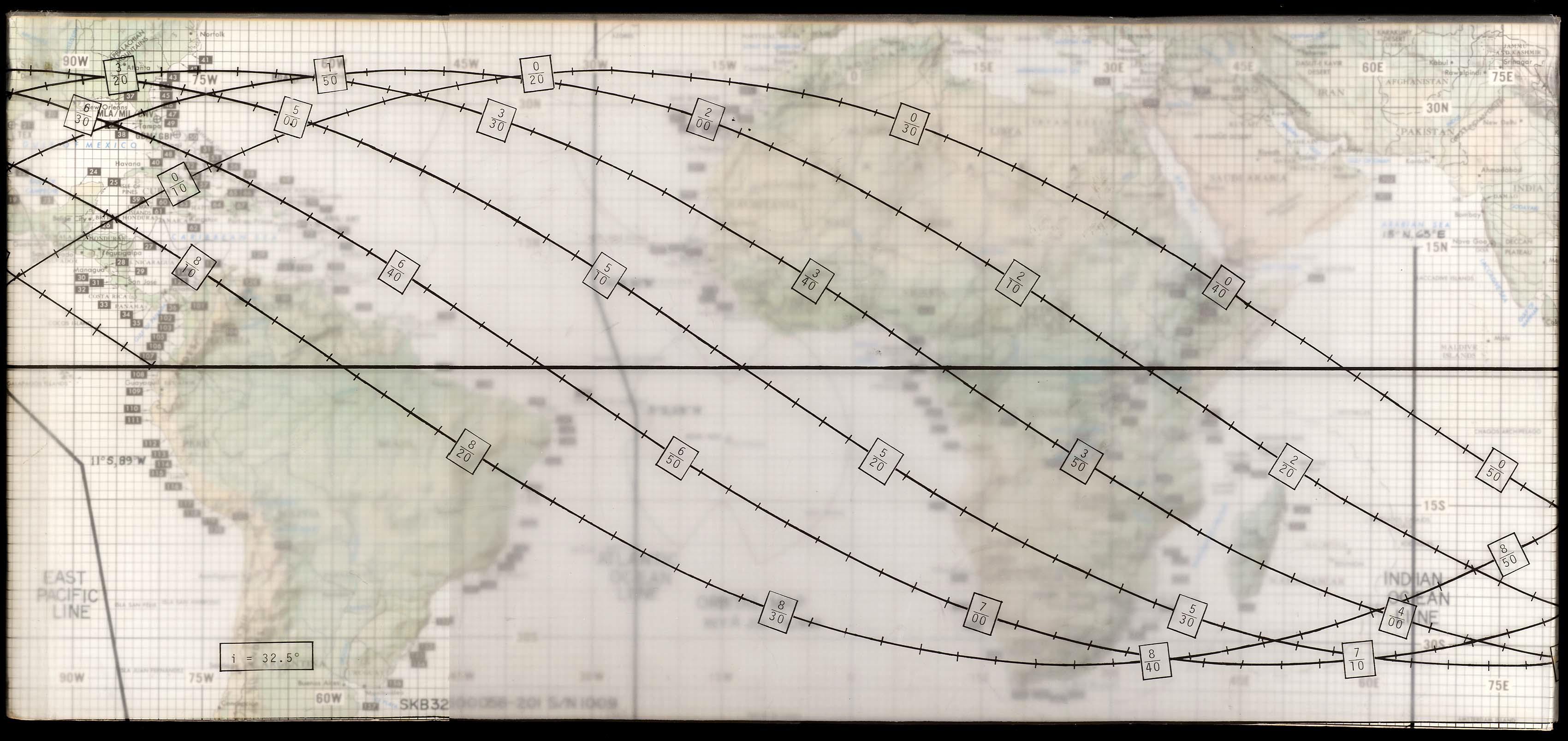 Apollo Earth Orbital Map