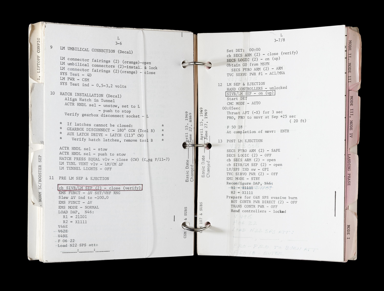 Apollo Lunar Module System Activation Checklist