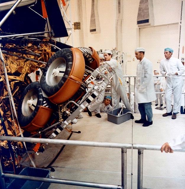 Lunar Rover Folded