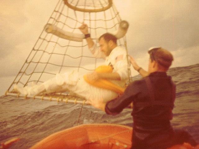 Apollo Astronaut Evans in Rescue Net