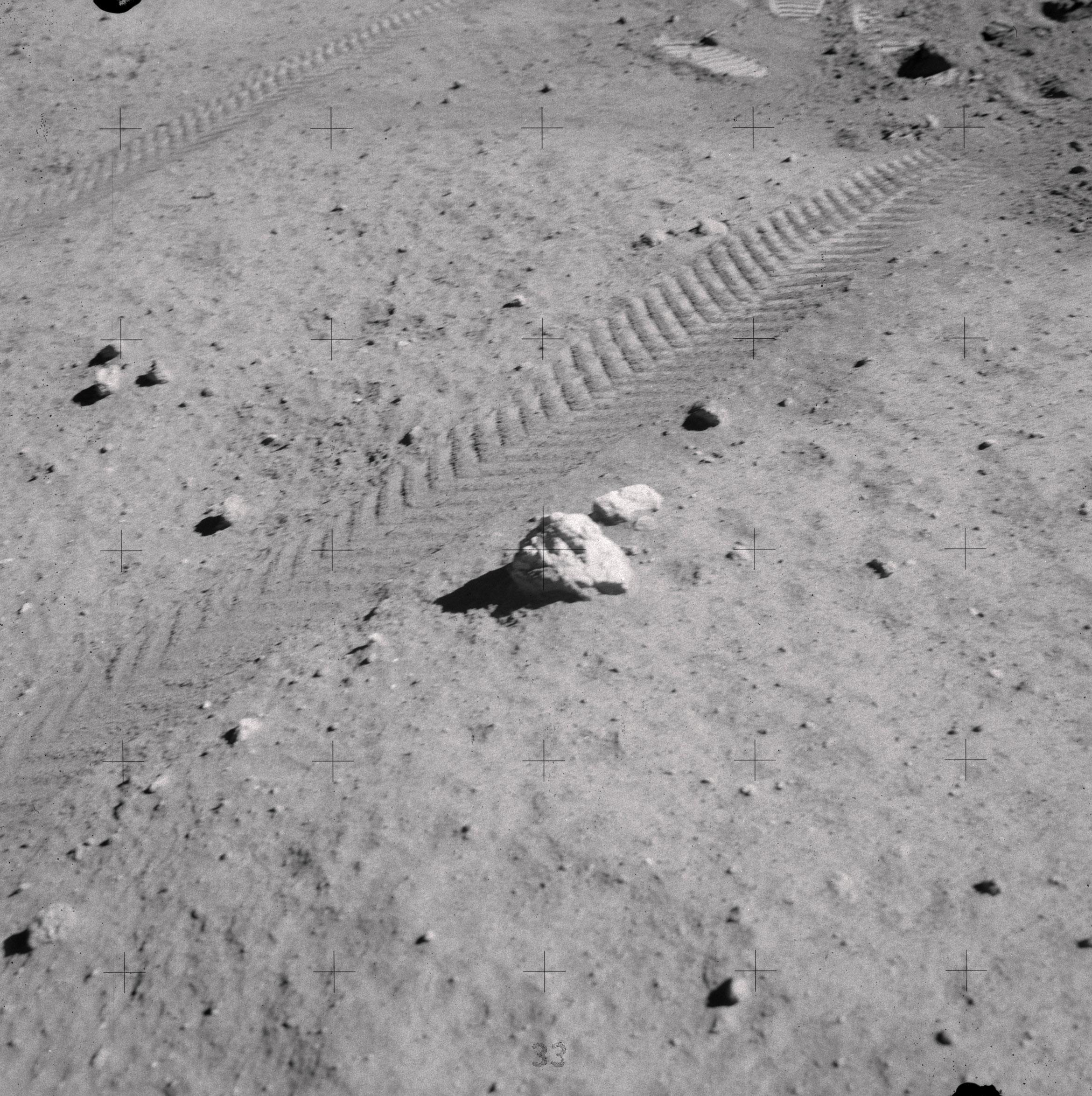 Lunar Anorthosite Surface Sample