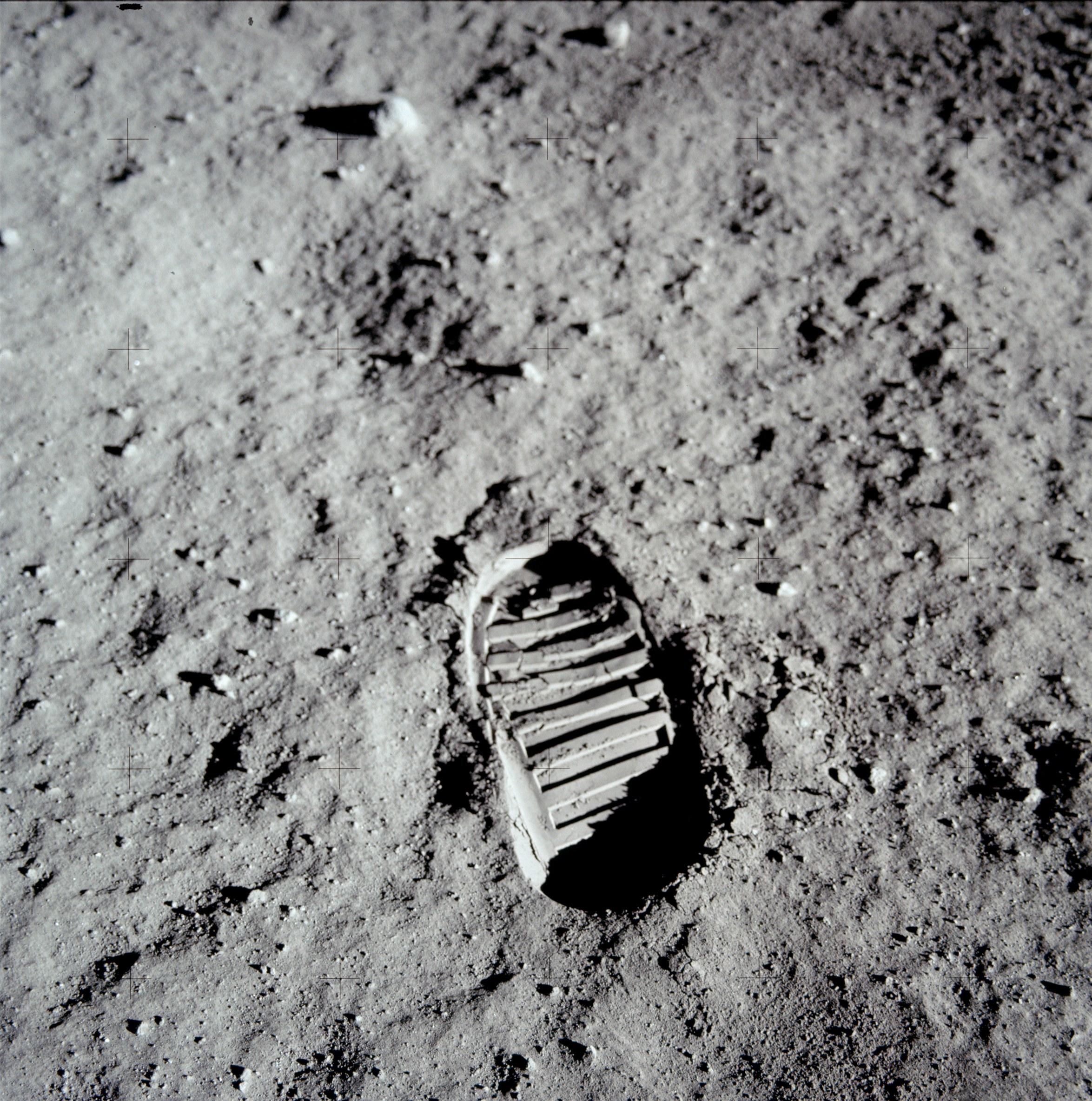 Aldrin Boot Print on Moon