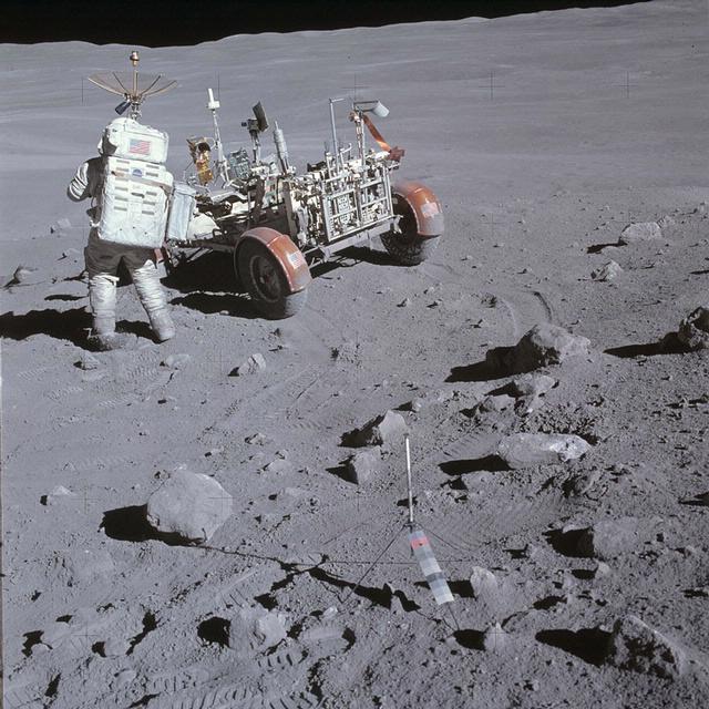 Charlie Duke on the Moon (Apollo 16)