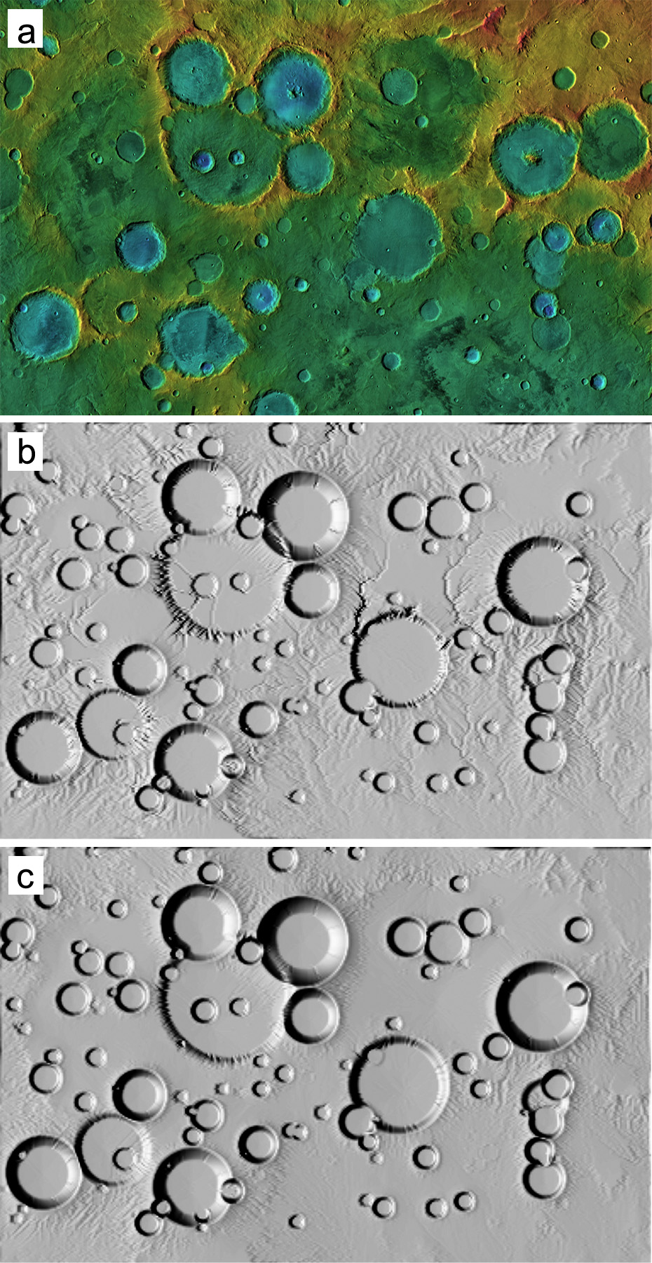 Computer Simulations of Landscape Development on Mars