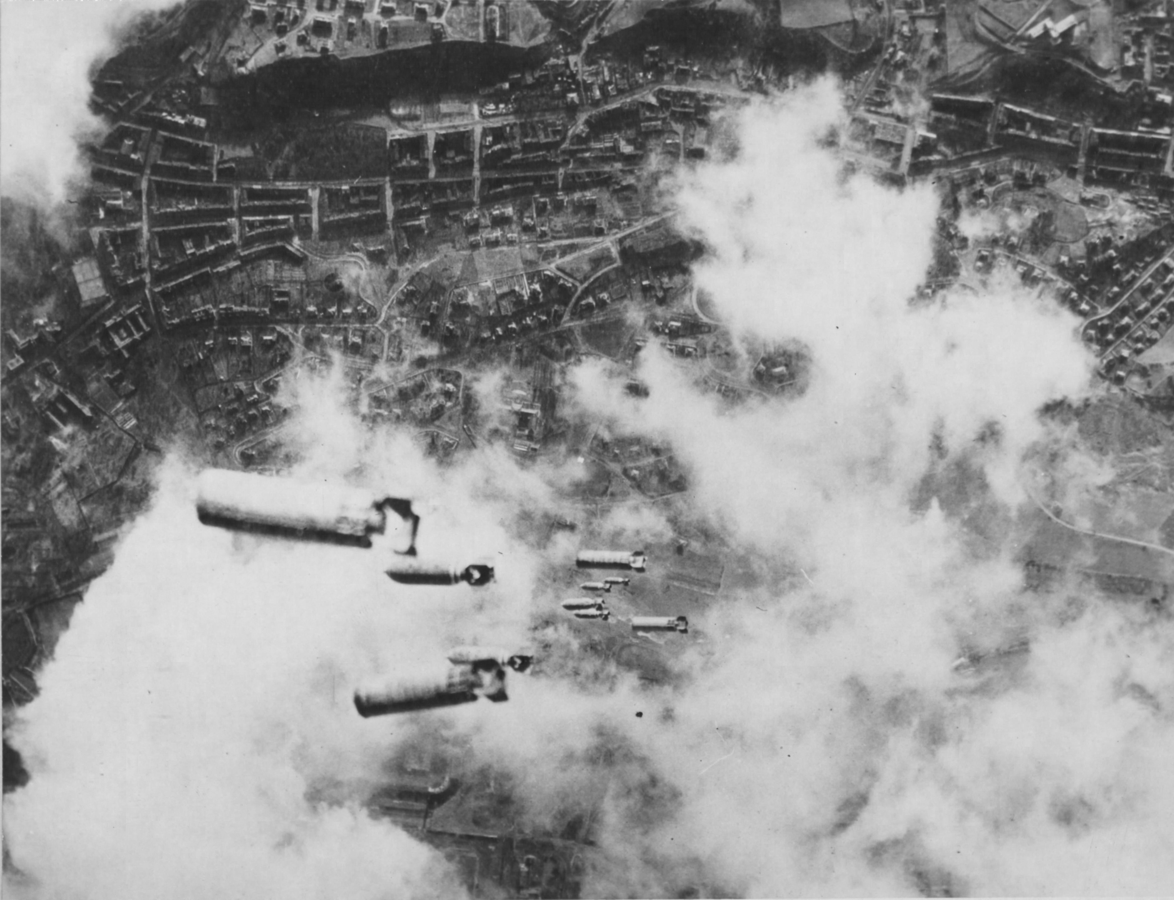 Bombs Fall on Dresden