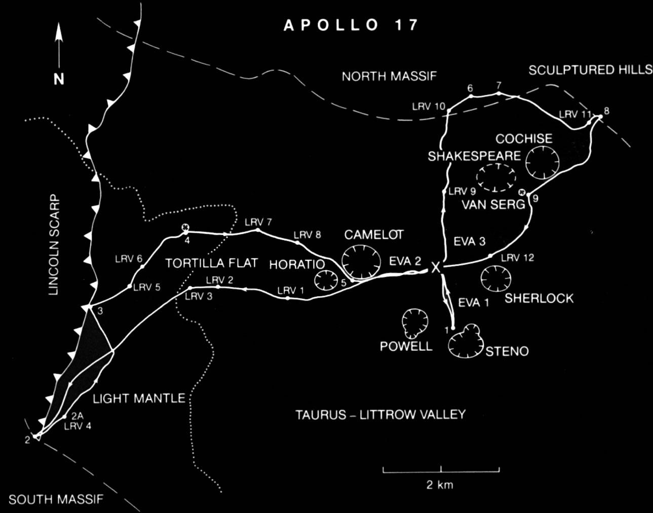 Apollo 17 Traverses