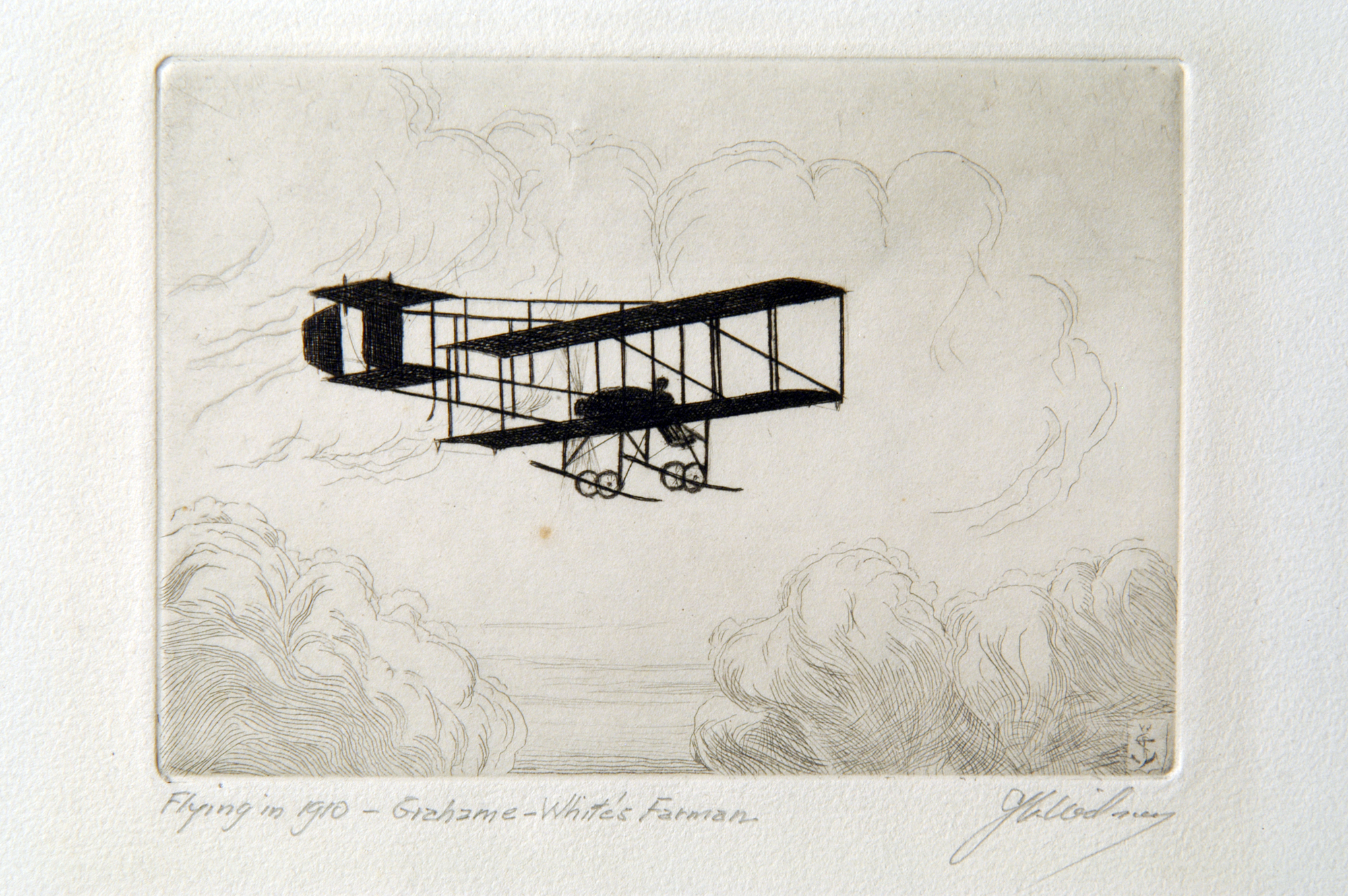 Flying in 1910 - Graham-White's Farman
