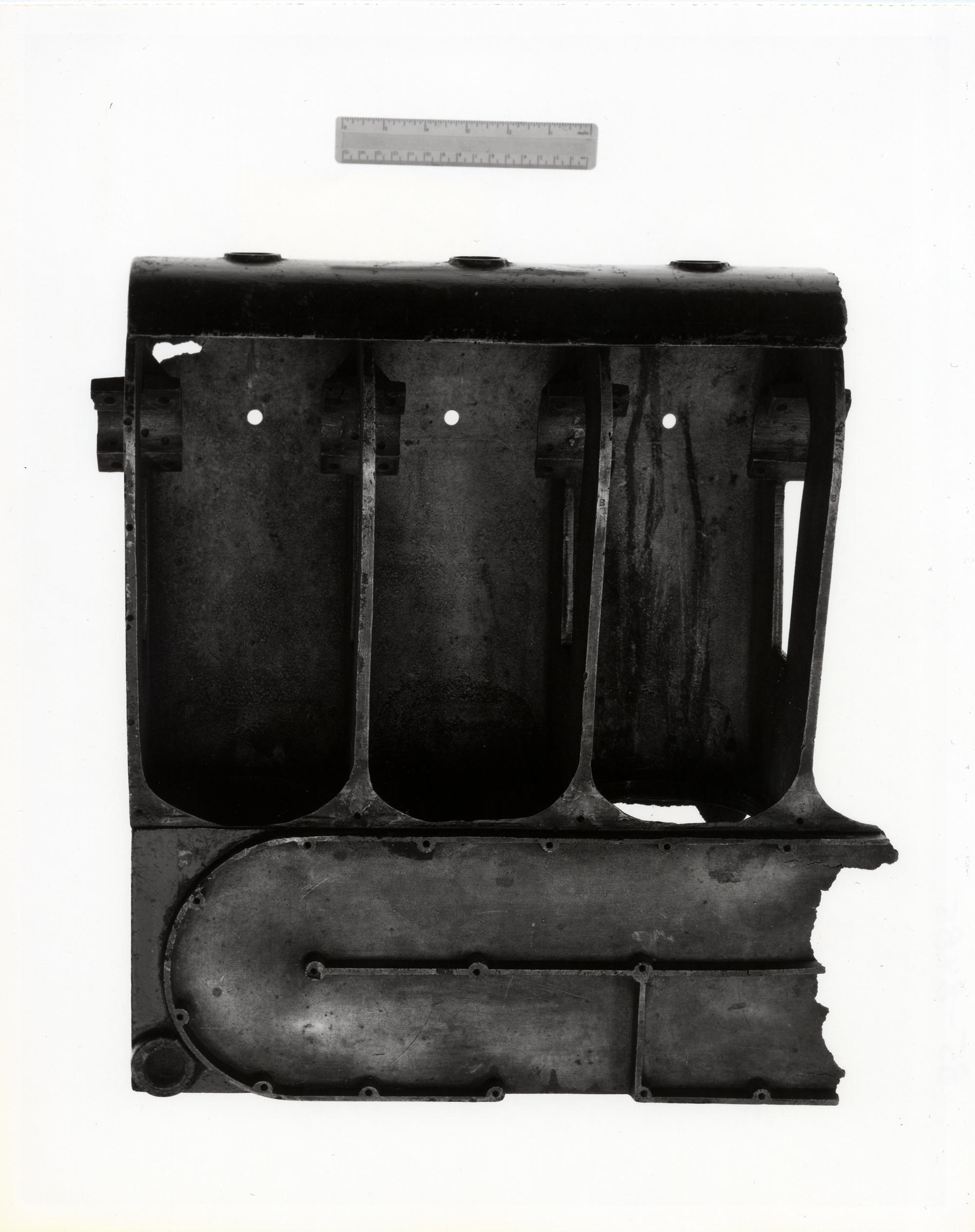 The original broken crankcase flown in 1903