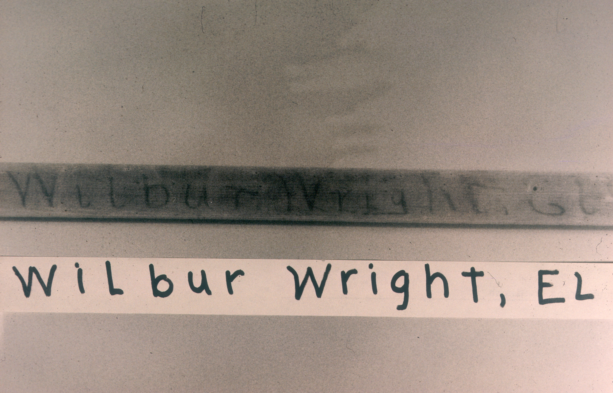 Wilbur Wright's hand-written notations