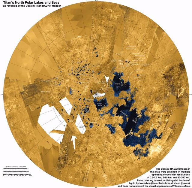 Northern View of Titan, Saturn's Satellite