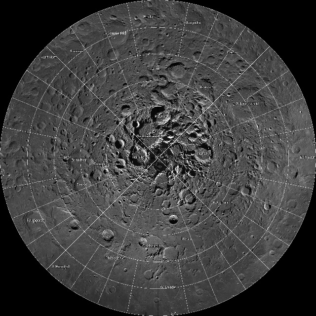 Mosaic of Moon's North Pole
