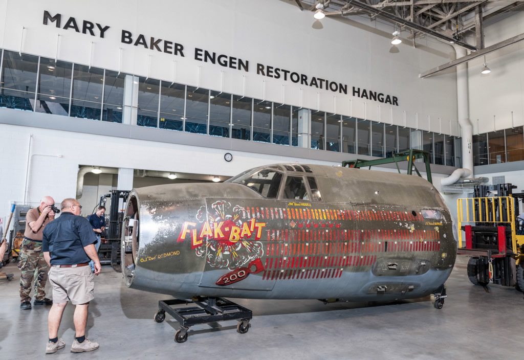 Flak-Bait Moves to the Restoration Hangar