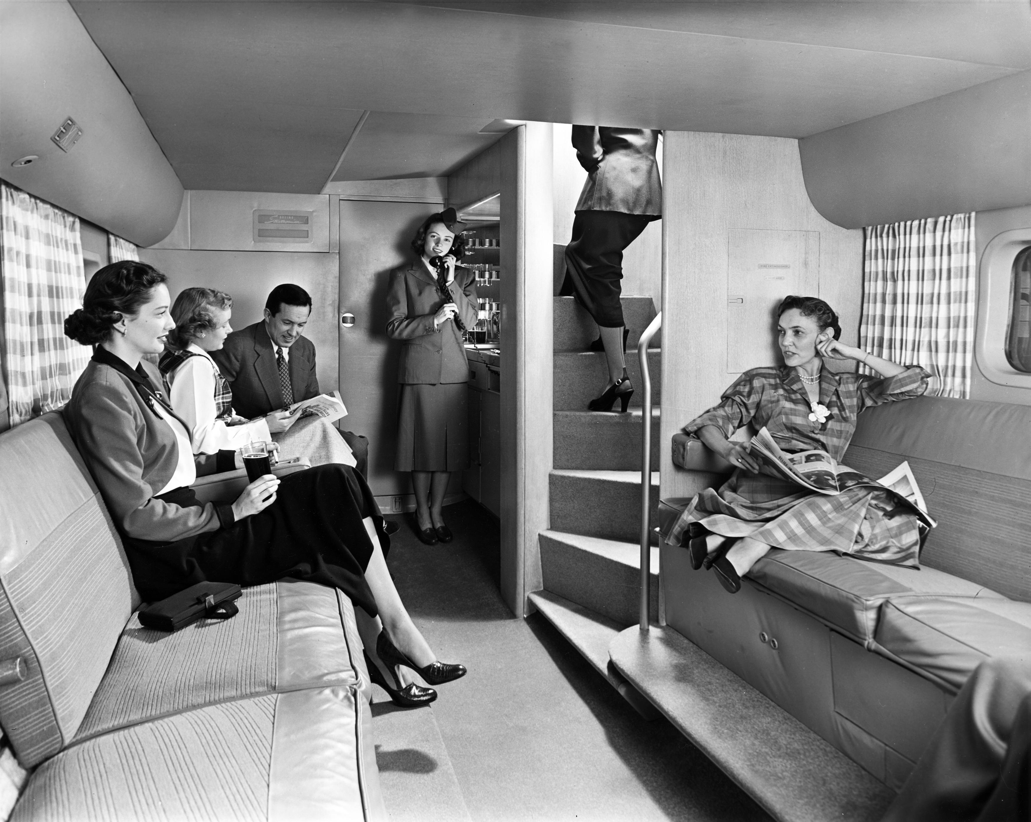 Boeing 377 Stratocruiser Lounge