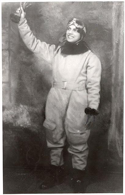 Willa Brown in flight suit