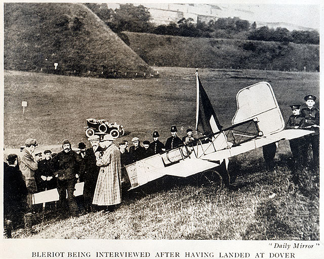 Blériot Interviewed After First Crossing of the English Channel by Aircraft