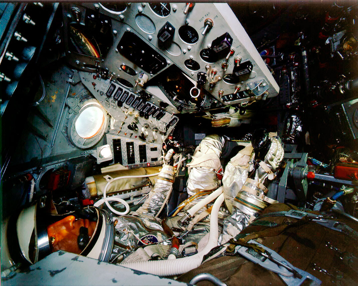 The interior of Shepard's Freedom 7 capsule.