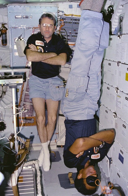 "Richard ""Dick"" Truly and Guy Bluford, STS-8"