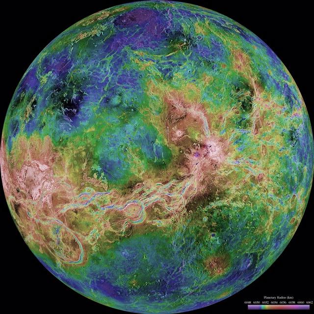 Hemispheric View of Venus