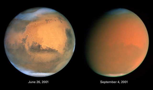 """Scientists Track """"Perfect Storm"""" on Mars"""