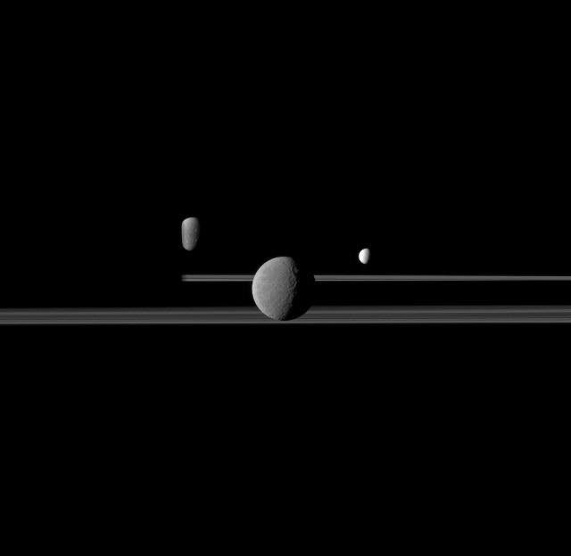 Saturn's Bright Satellites
