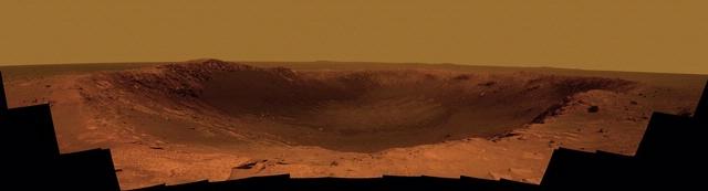 Color Panorama of Mars Crater 'Santa Maria'