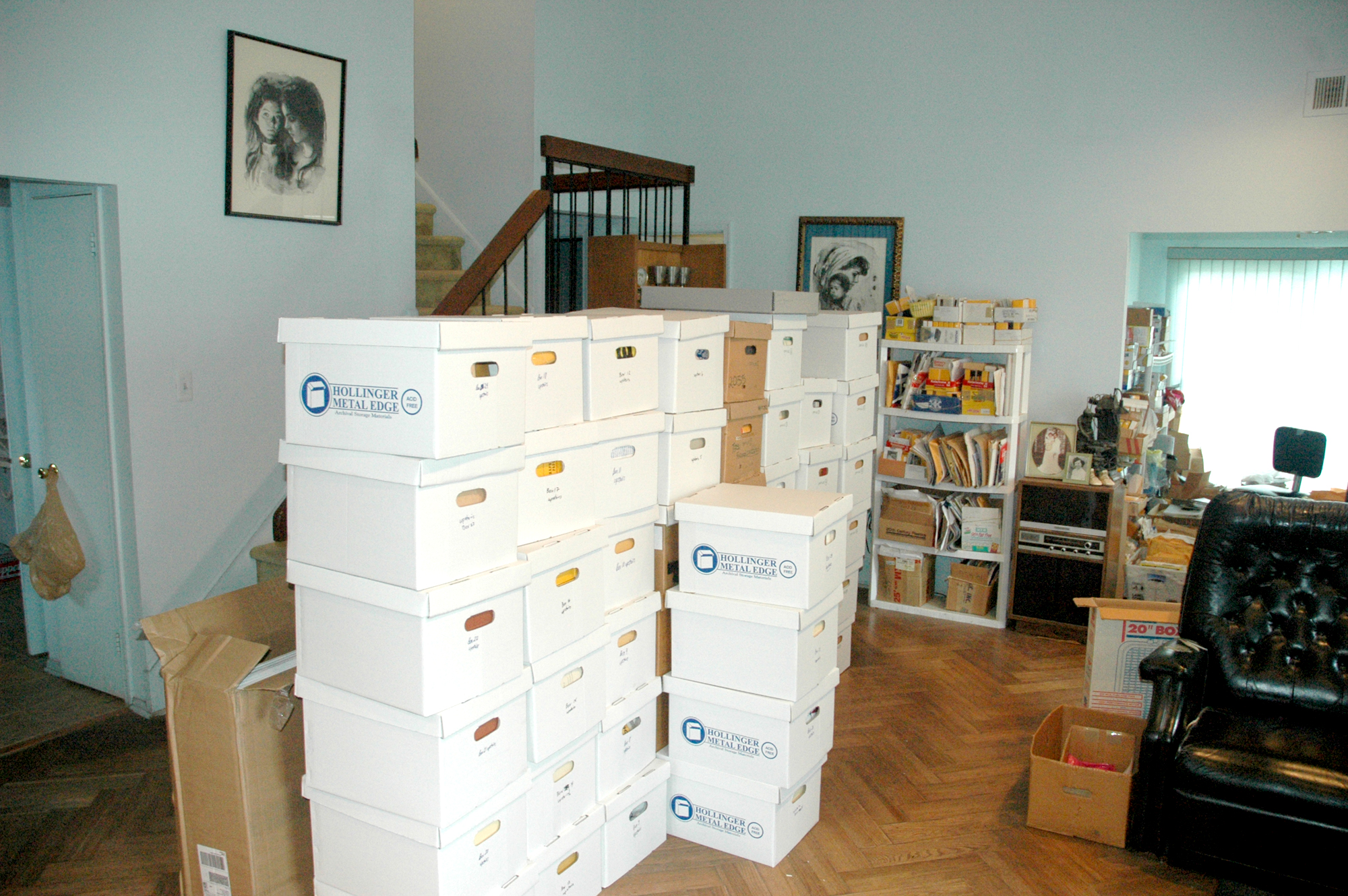 Packing the collection into boxes