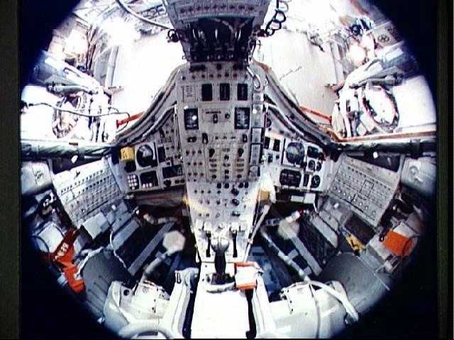 Gemini 7 spacecraft interior