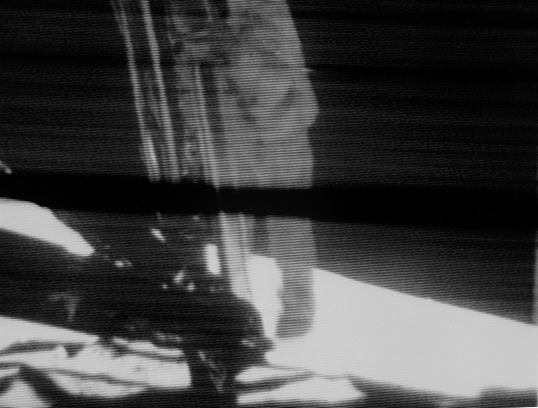Telecast of Astronaut Neil Armstrong Descending Ladder to Lunar Surface