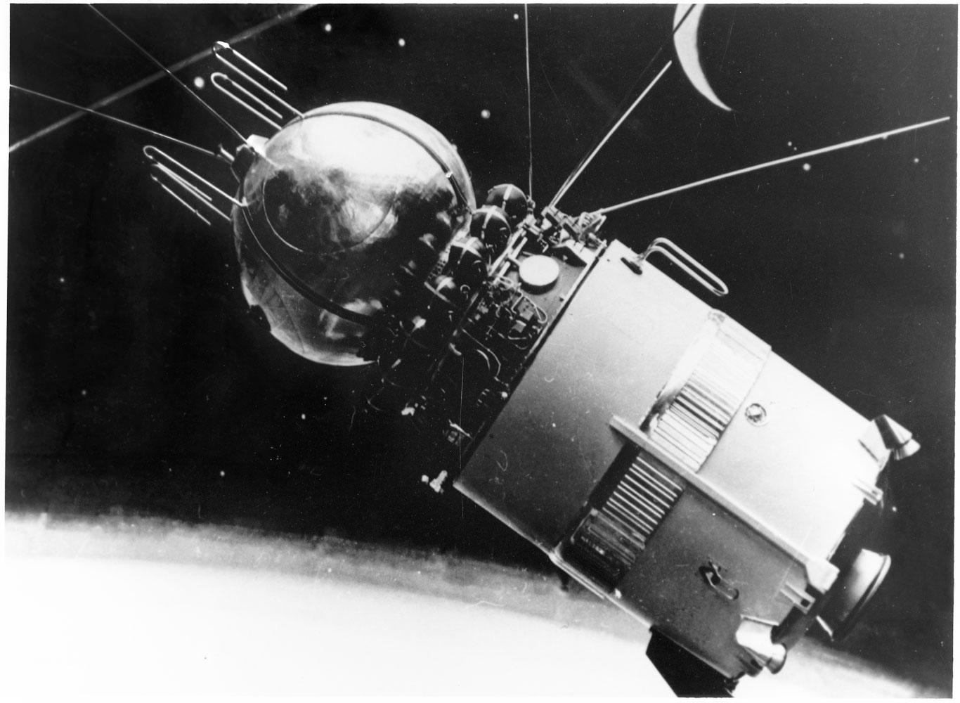 An illustration of the Vostok in flight