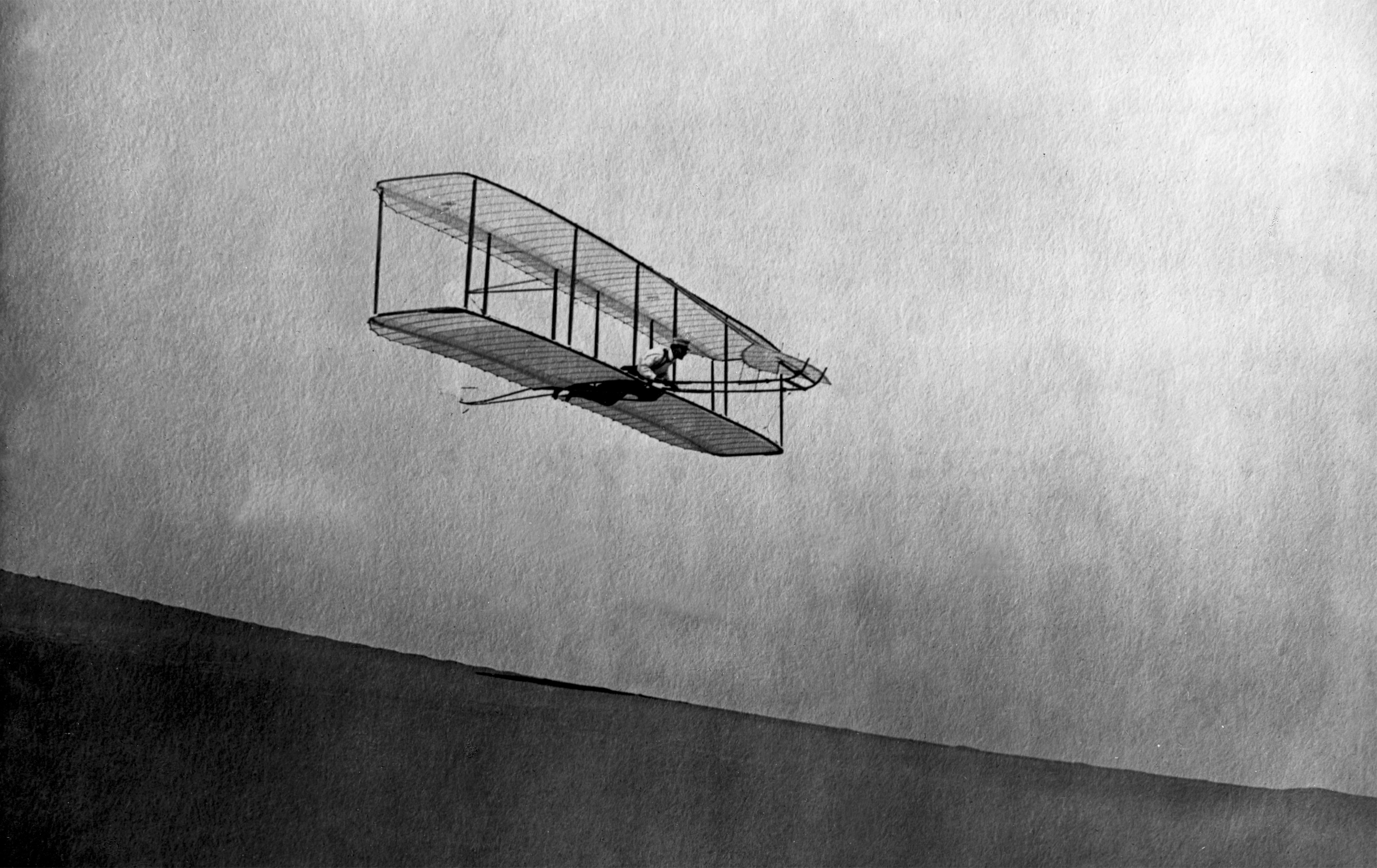 Wright 1902 Glider In Flight