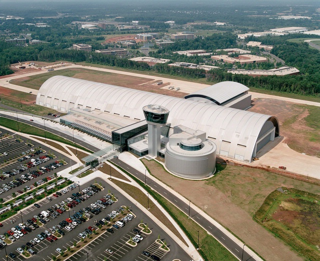 Aerial View of Steven F. Udvar-Hazy Center